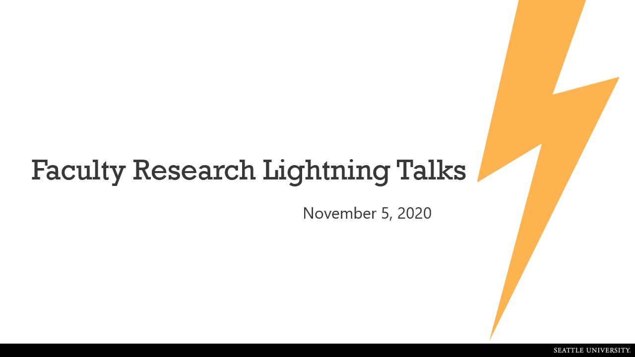 Faculty Lightning Talks - November 2020