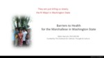 Barriers to Health for the Marshallese in Washington State by Robin Narruhn